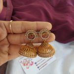 Pretty Jhumkas From Kajal Jewellery