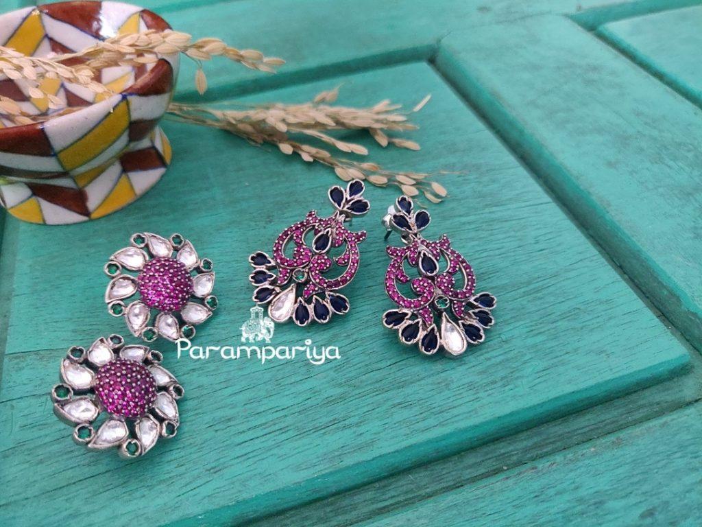 Pure Silver Earrings From Parampariya