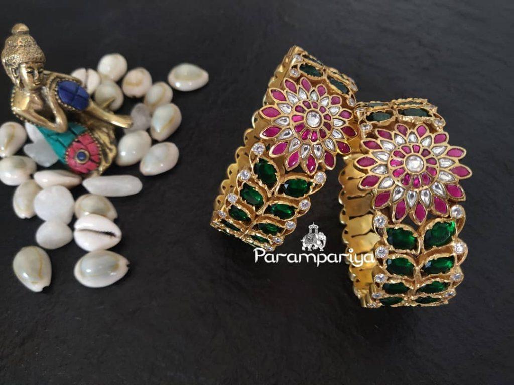 Grand Silver Bangles From Parampariya