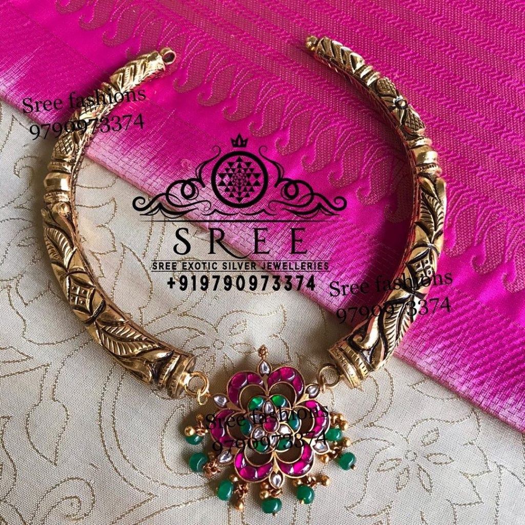 Chic Silver Necklace From Sree Exotic Silver Jewelleries
