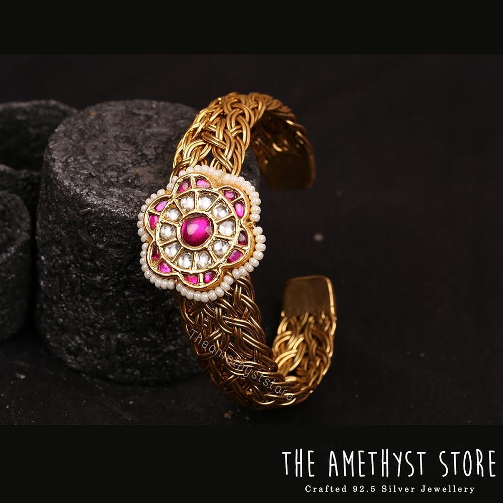 Bold Silver Kada Bangle From The Amethyst Store