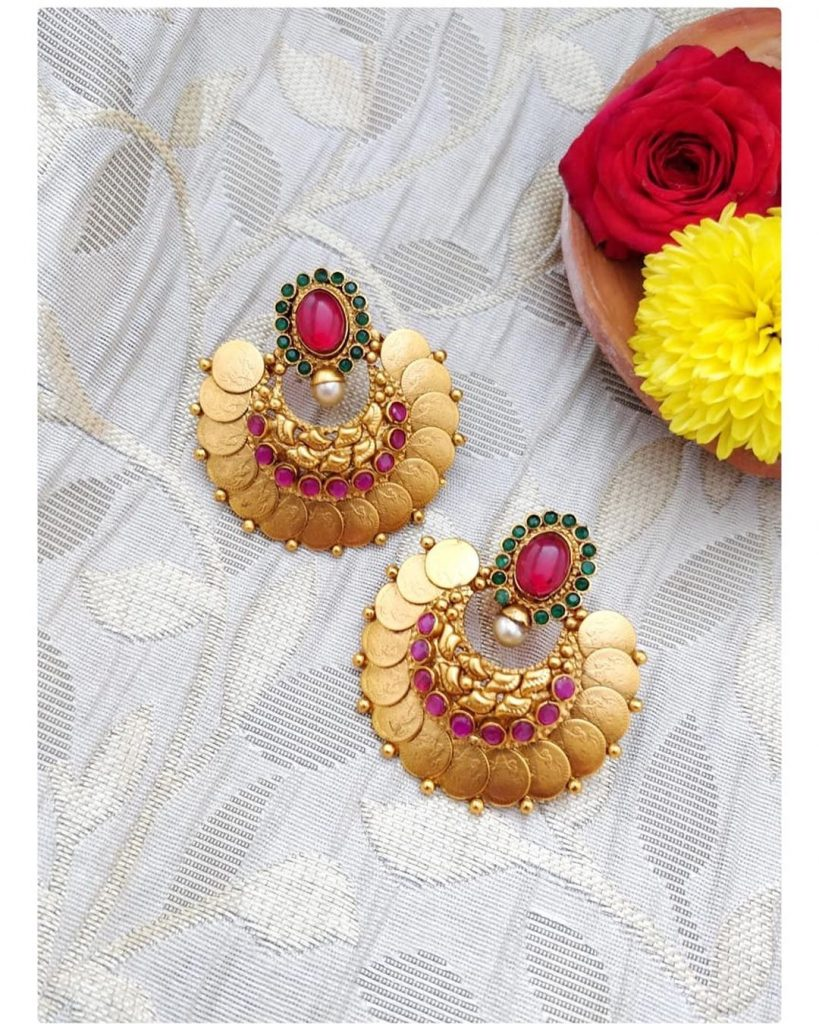 Cute Coin Earrings From The Pink Jhumki