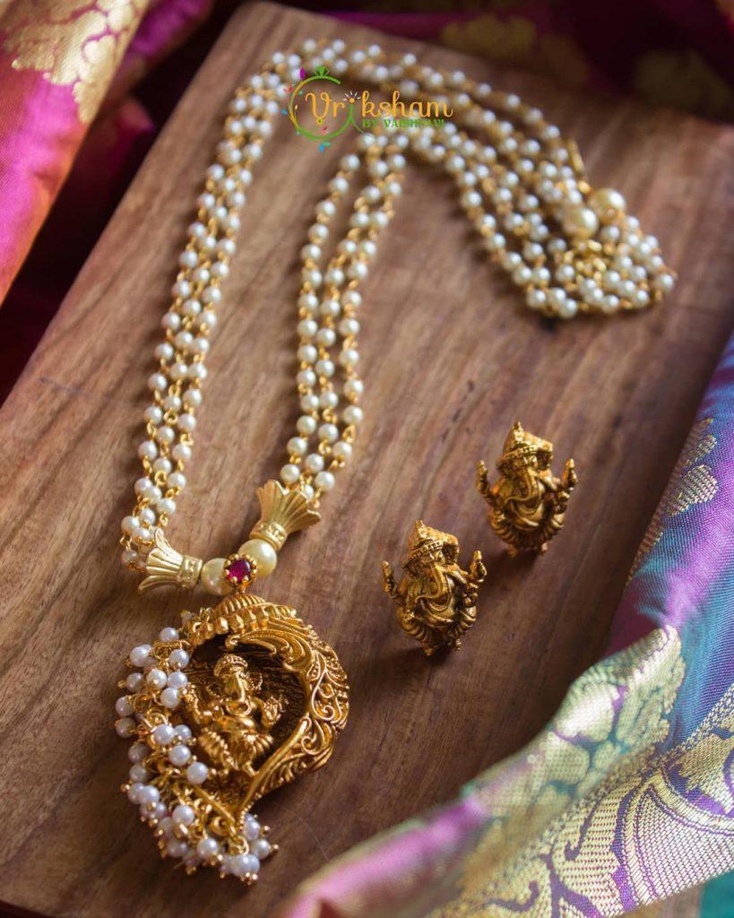 Unique Pearl Necklace From Vriksham