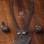 Silver Necklace Set by Balaji Silvers