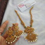 Cz Matte Haram Necklace Set