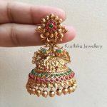Antique Jhumka Earrings by Kruthika Jewellery