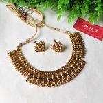 Antique Gold Necklace Set by Adorna Chennai