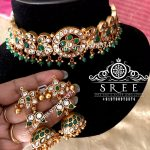 Choker Necklace Set by Sree Exotic Silver Jewelleries