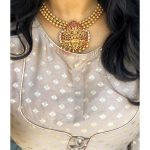 Elegant Temple Necklace by House of Jhumkas