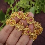 Antique Gold Narthana Ganesha Bangles by Happy Pique
