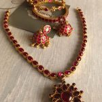 Kemp Necklace Set with Ruby and Stone