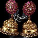 Classic Lotus Nakshi Peacock Jhumka