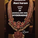 Gold Plated Rani Haram by Lotus Silver Jewellery