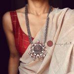 Long Silver Neckalce by Prade Jewels
