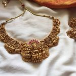 Antique Lakshmi Bridal Choker Necklace Earrings