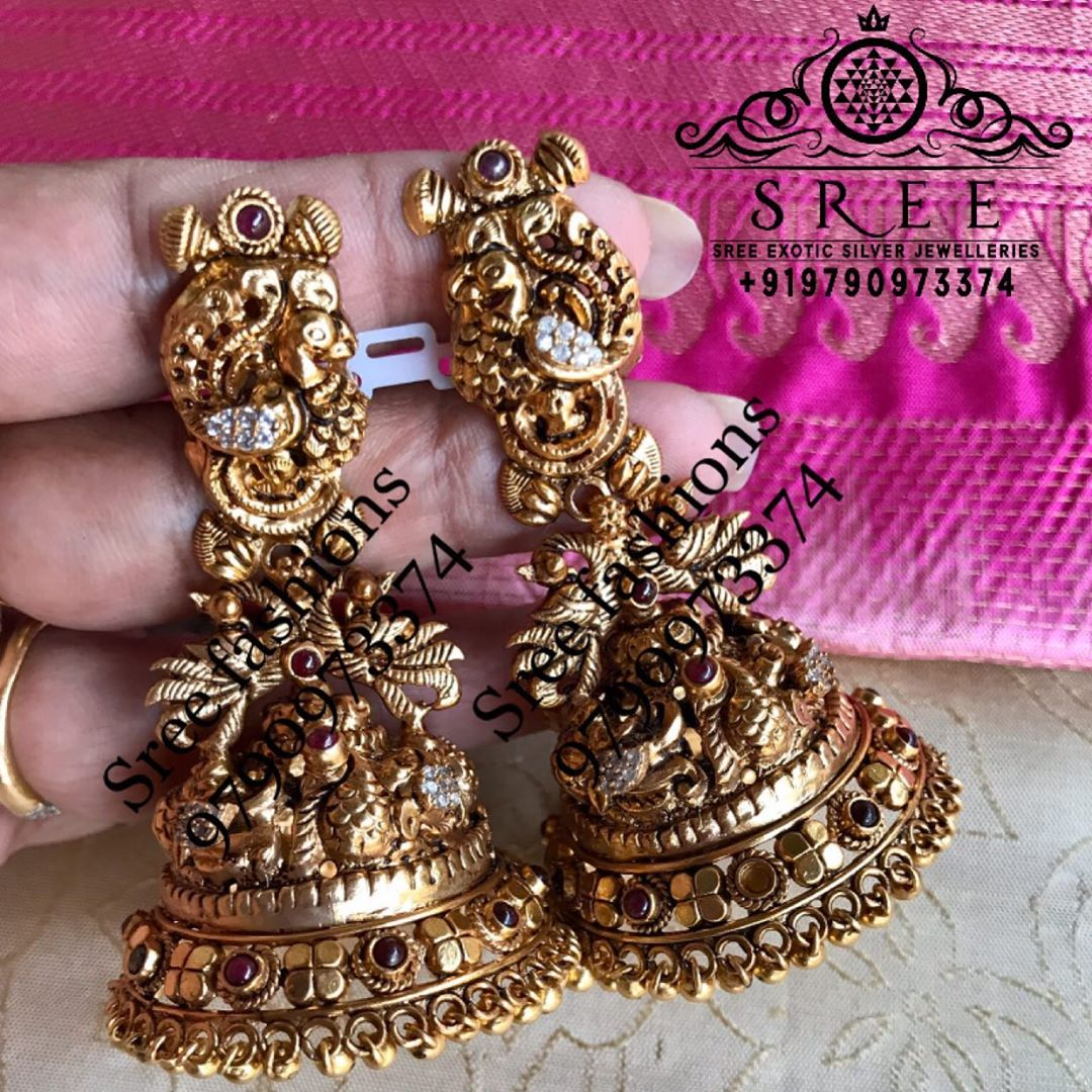 antique-temple-jhumkas