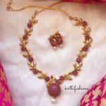 Designer Peacock Necklace Set
