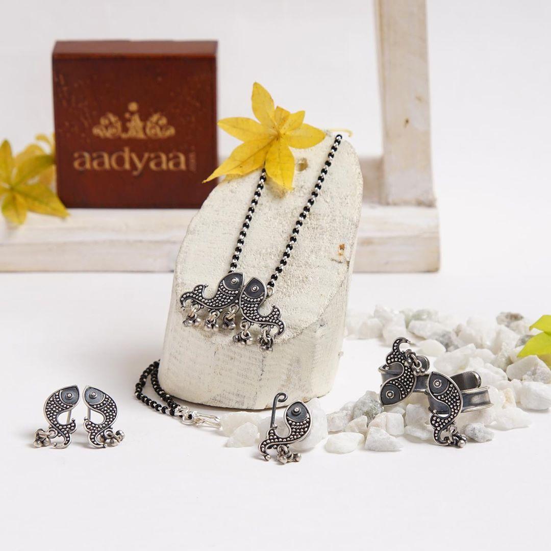 fish-silver-jewellery-set