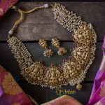Gold Look Alike Pancha Lakshmi Neckpiece