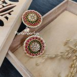 Kundan Ear Studs by Parampariya