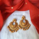Peacock Chandbalis by Kruthika Jewellery
