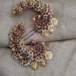 Peacock Coin Earrings