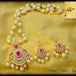 Pearl Necklace Set by Shubam Pearls