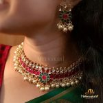 Stunning Necklace Set by Meenakshi Jewellers
