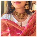 Lakshmi Choker Necklace with Jhumkas
