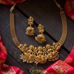 Simple Lakshmi Necklace and Earrings