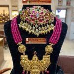 Trending Nakshi Locket with Ruby Beads