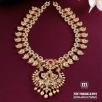 Uncut Diamond Ruby and Emerald Mango Mala