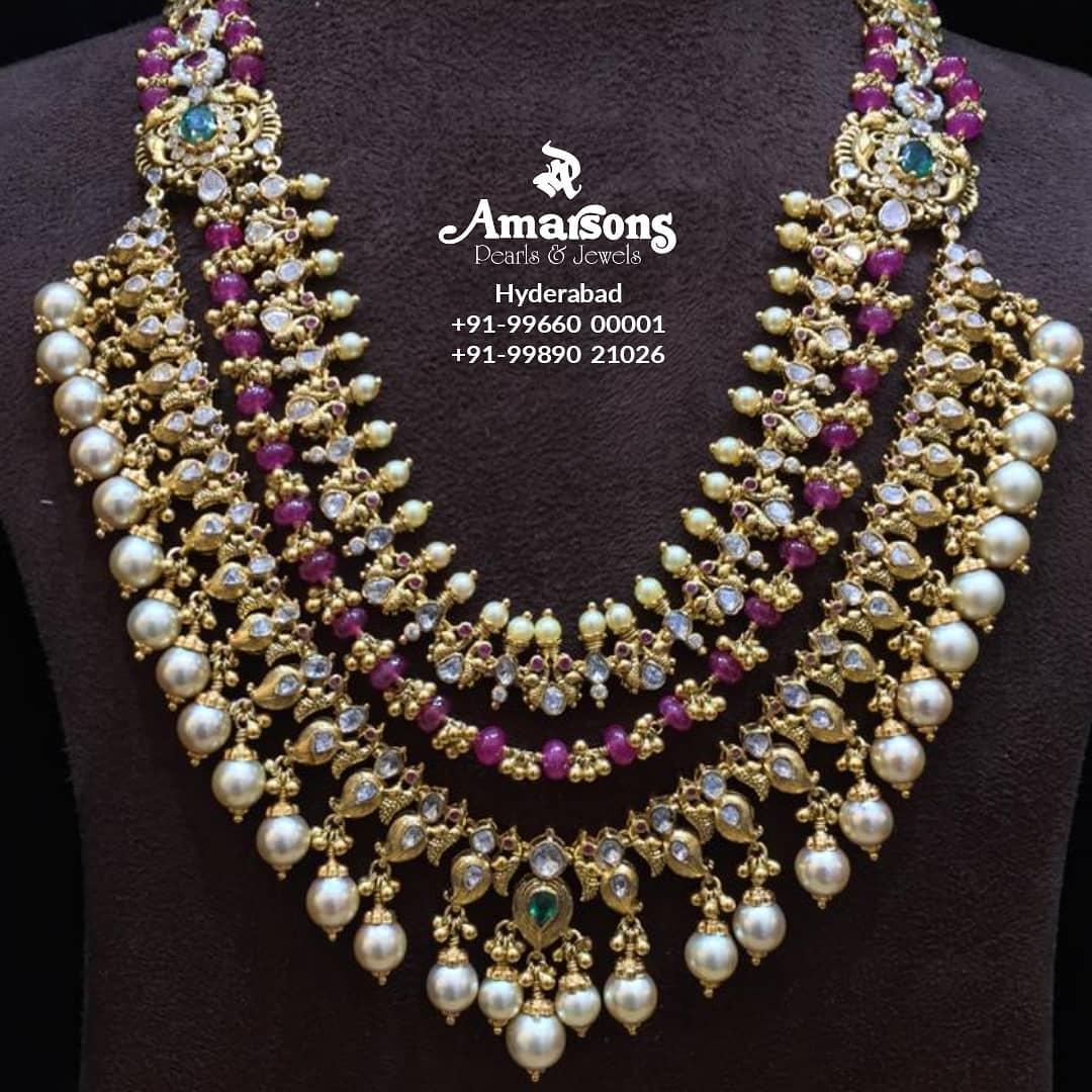 uncut-polki-gold-haram-necklace