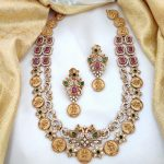 Matt Finish AD Two Layer Lakshmi Coin Necklace