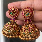 Antique Kemp Stones Jhumkas