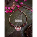 Brass Attigai Necklace by Aabharanam