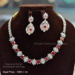 Diamond Look Alike Imitation Necklace Set