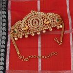 Handcrafted Gold Pearls and Stone Traditional Baju Bandh