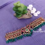 Kundan and Green Beads Choker