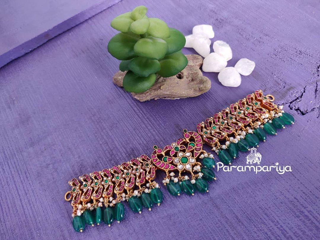 kundan-green-beads-choker-necklace