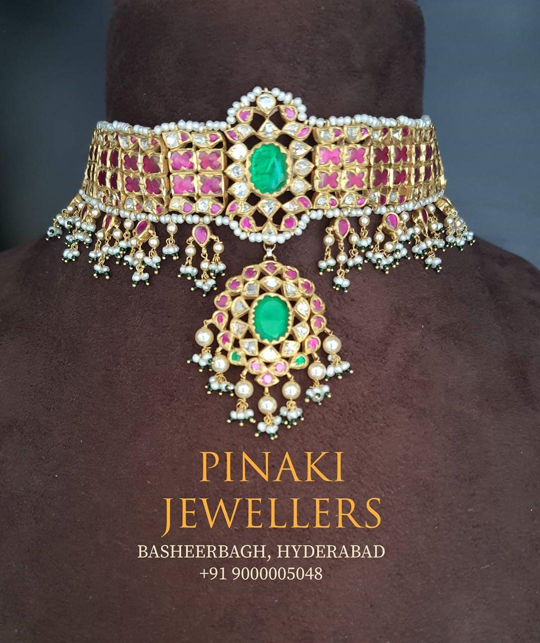 kundan-multicolor-stone-choker-necklace