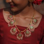 Multicolor Pendant Necklace by Sukra Jewellery