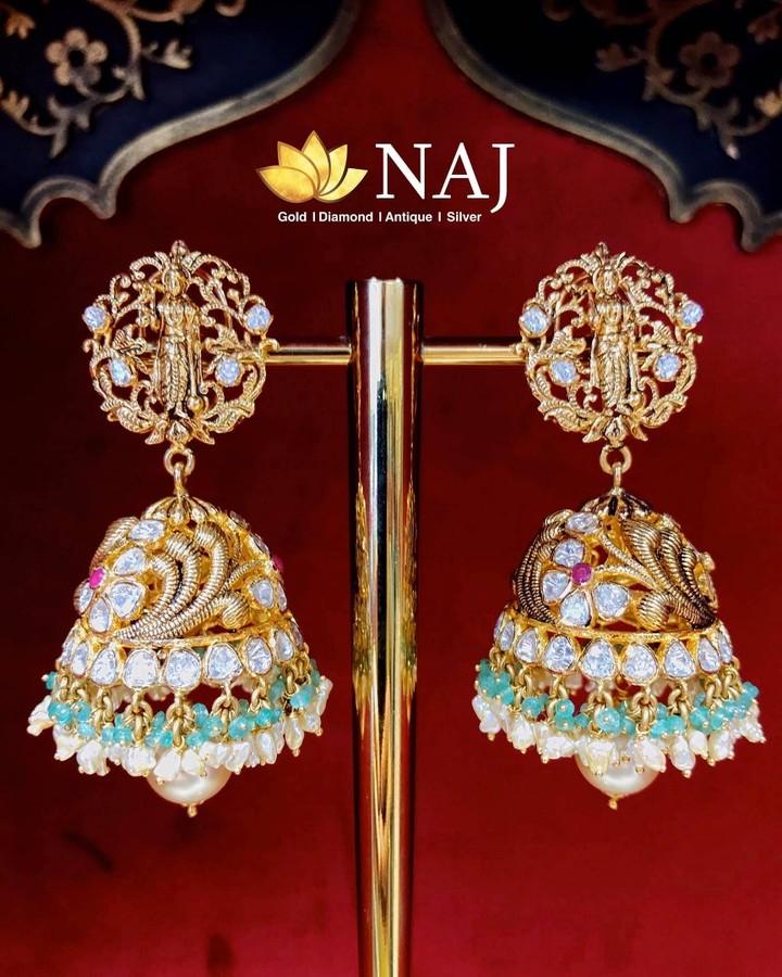 nakshi-work-dasavatharam Jhumkas