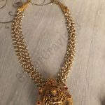 Pearl Bunch Necklace With Lakshmi Pendant