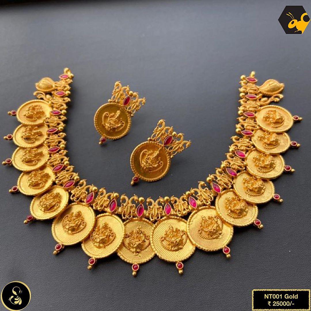 pure-silver-gold-polish-temple-necklace-set