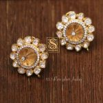 Pure Silver Stone Studded Earrings