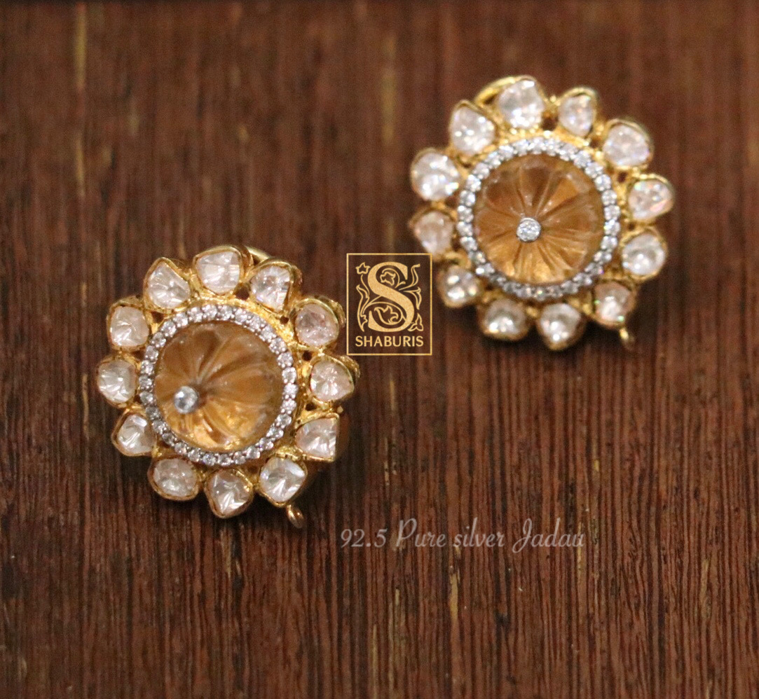pure-silver-stone-studded-earrings