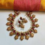 Ramparivar Cut Work Matte Gold Polish Necklace Set