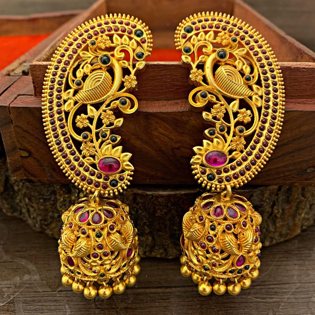 silver-goldplated-antique-jhumka