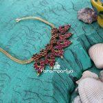 Traditional Kemp Attigai Necklace